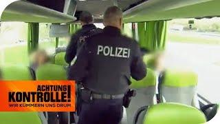 Polizeikontrolle im Fernbus: Sind illegale Einwanderer an Bord?  | Achtung Kontrolle | kabel eins
