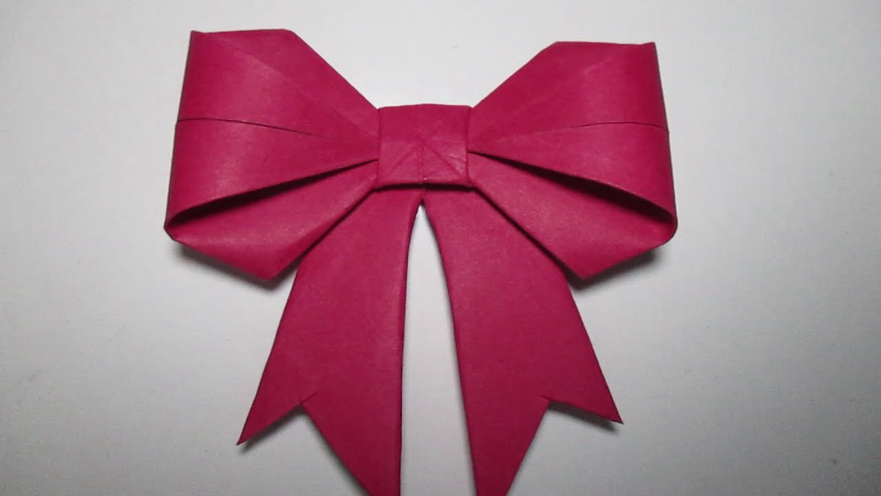 Make an Origami Bow | Origami bow, Origami easy, Origami ribbon | 720x1280