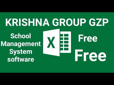 School Management System Software In Excel Free Download And Use