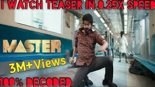 Master -  Teaser Breakdown Hidden Details | Thalapathy Vijay | Anirudh Ravichander Lokesh Kanagaraj