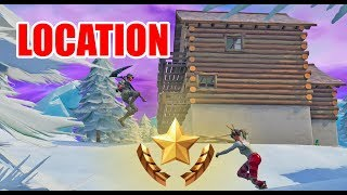 LOCATION - SEARCH BETWEEN 3 SKI LODGES - FREE BATTLE STAR - Fortnite Battle Royale