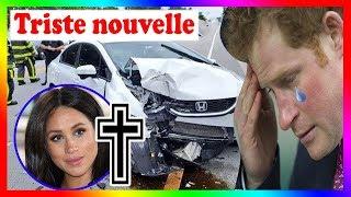Triste nouvelle: l'accident de voiture a causé Meghan et l'enfant! Harry s'évanouit de douleur,