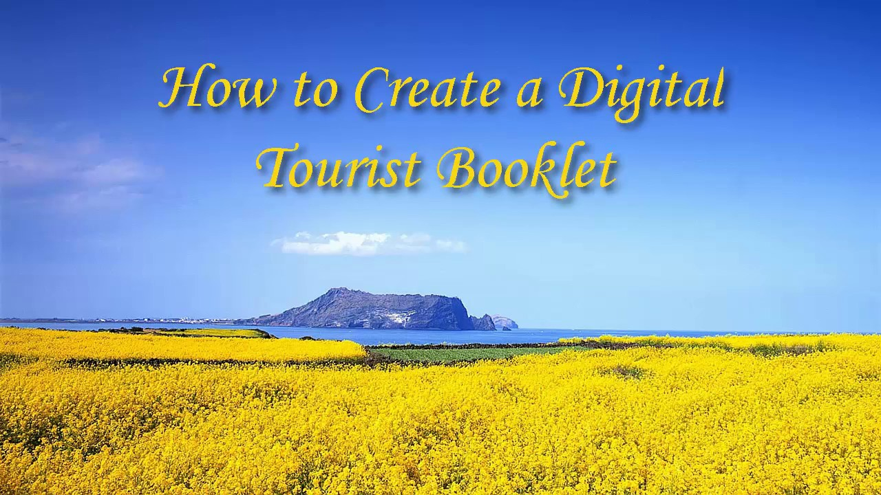 how to create a digital tourist booklet youtube