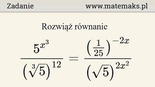 Równanie wykładnicze - przykład 10
