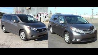 2014 Nissan Quest van vs 2014 Toyota Sienna van