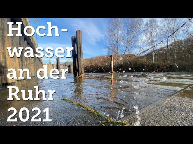 Witten-Heven: Hochwasser an der Ruhr