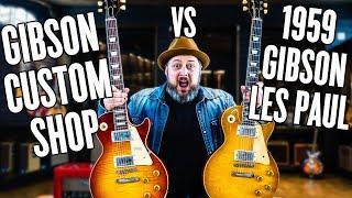 Gibson LES PAUL Guitar Battle   VINTAGE 1959 Les Paul vs. Gibson Custom Shop!