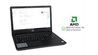 #Dell Inspiron 3565 AMD E2 7th Gen 15.6-inch Laptop (4GB/1TB HDD/ Windows 10/Black/2.5kg)