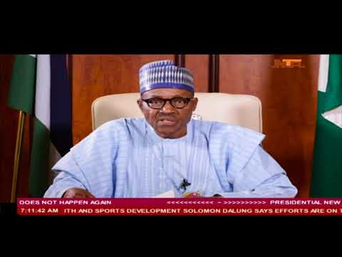 President Buhari New year Nationwide Broadcast