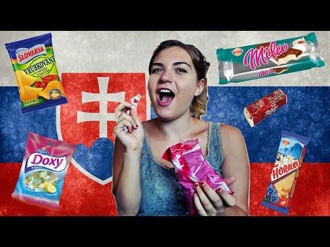 BRITISH GIRL TRIES SLOVAKIAN SNACKS!