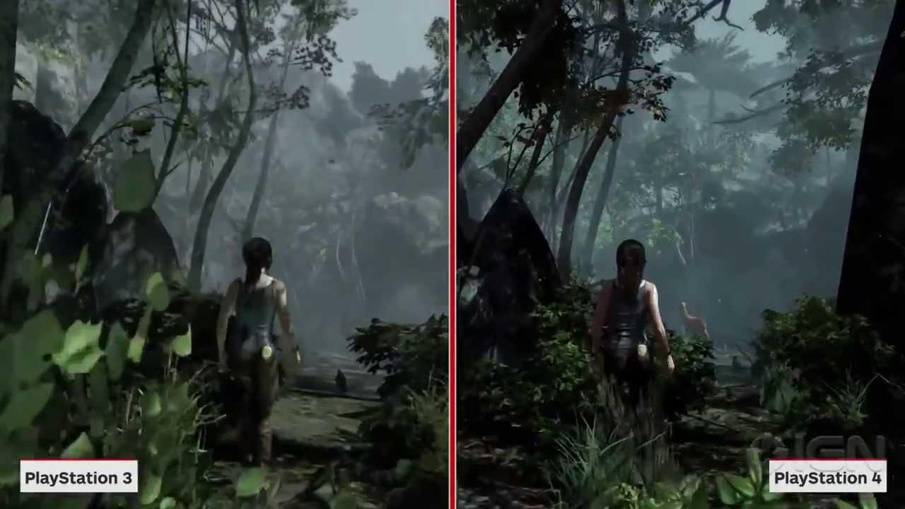 Trde Comparaison 1 Ps3 Ps4 Pour Tomb Raider Definitive Edition Vo Youtube