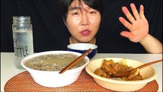 [음식사냥꾼] 한반도키친 평양냉면 한반도랭면 리뷰먹방 (fr.통마늘닭갈비볶음) 리얼사운드먹방~! Pyeongyang naengmyeon stirfried garlic chicken