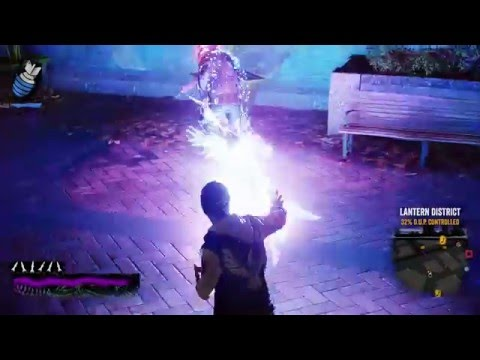 Infamous second son blind run part 12 side mission frenzy 3 and 3 districts freed