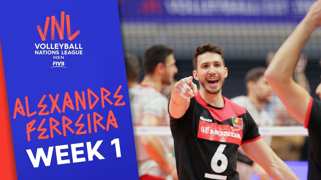 Incredible Alexandre Ferreira: 18 Points against Bulgaria | Volleyball Nations League 2019
