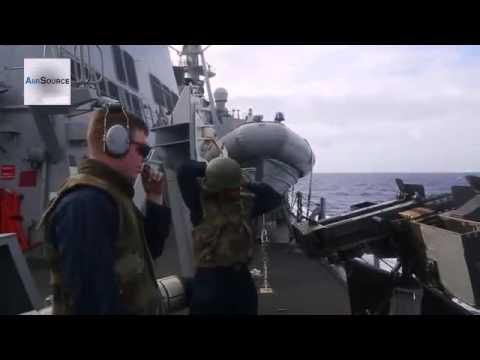 U S  Naval Power! Navy Destroyer Squadron 15 Demonstration
