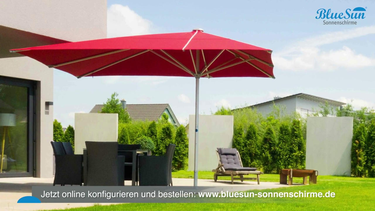 bluesun professionelle gastronomie sonnenschirme auch f r privat youtube. Black Bedroom Furniture Sets. Home Design Ideas