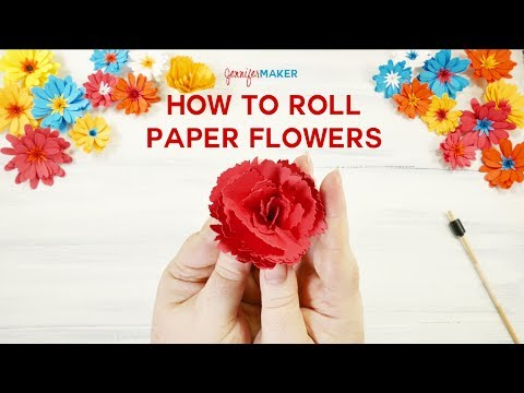 How to Roll Paper Flowers (Quilled Flowers)