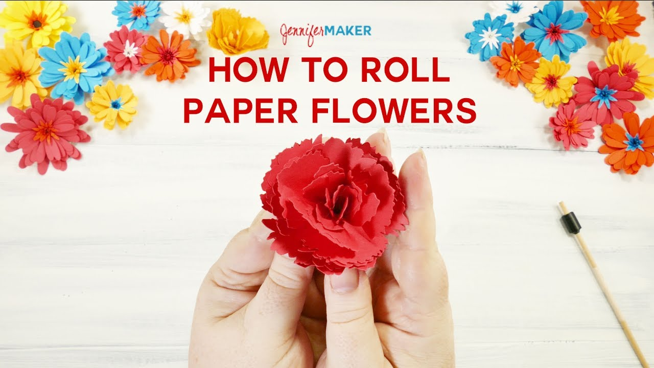 How To Roll Paper Flowers Quilled Flowers Youtube