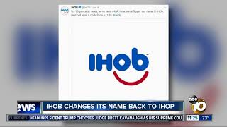 IHOP returns to original name