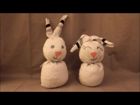 diy osterhase socken basteln ohne n hen ostern fr hling deko youtube. Black Bedroom Furniture Sets. Home Design Ideas