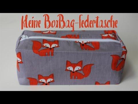 kleine Box Bag Federtasche nähen | Reißverschlusstasche – DIY Tutorial | Nähanleitung