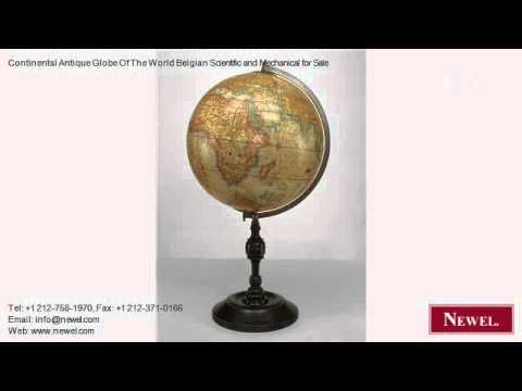 Continental Antique Globe Of The World Belgian Scientific