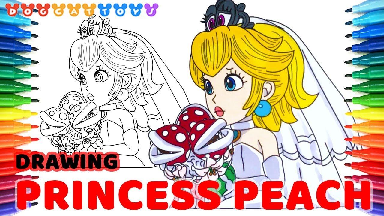 Drawing Super Mario Odyssey Princess Peach 129 Drawing