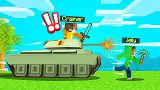 ARMY TANK vs. SPEEDRUNNER In MINECRAFT!