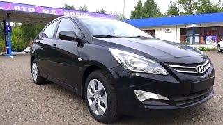 2014 Hyundai Solaris. Start Up, Engine, and In Depth Tour. смотреть