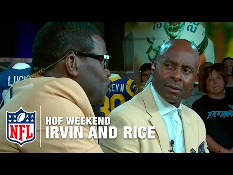 Michael Irvin and Jerry Rice Talk Trash | 2016 Pro Football Hall of Fame | NFL