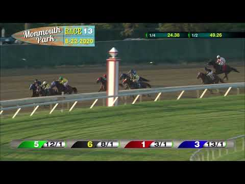 video thumbnail for MONMOUTH PARK 08-22-20 RACE 13