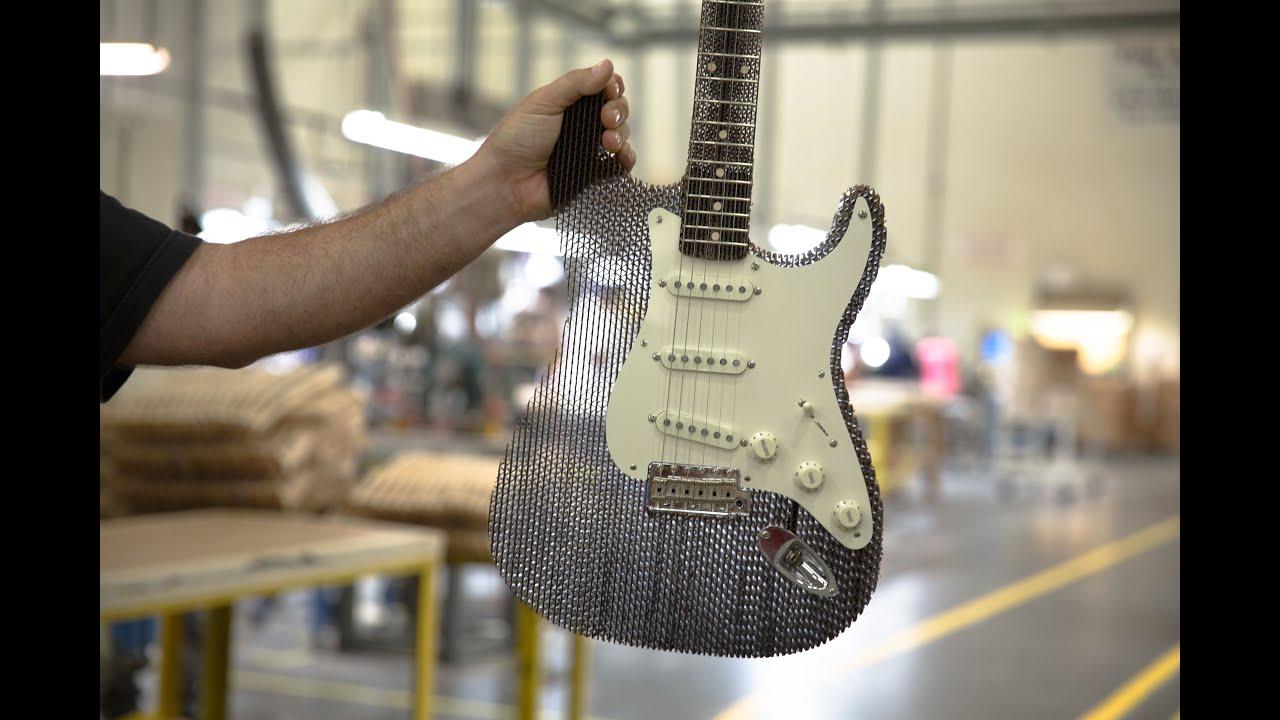 Cardboard Guitar Stratocaster Fender  Cardboard Chaos