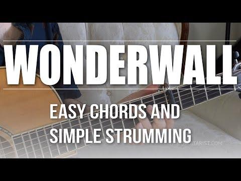 Wonderwall - Oasis | Easy Guitar Tutorial, Simple Chords and Strumming