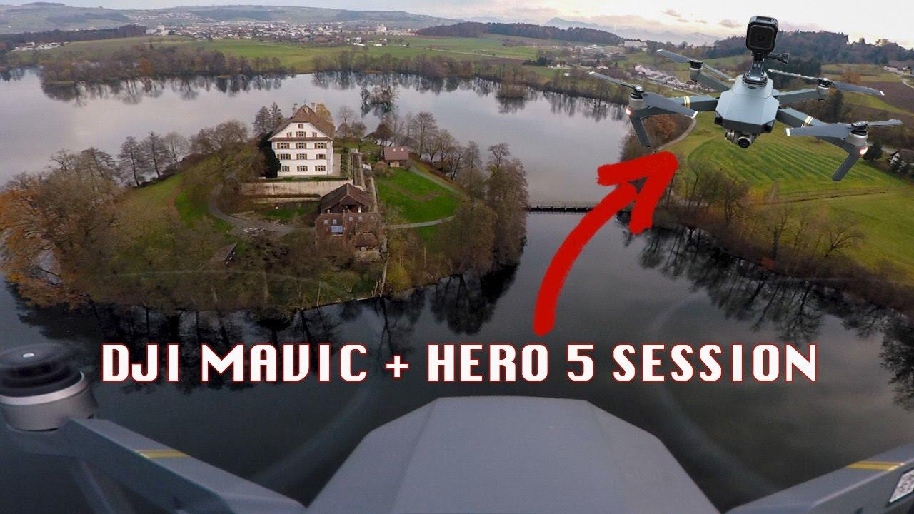 Dji Mavic And Gopro 5 Session Mounted Youtube Telkomsel 17 Hero