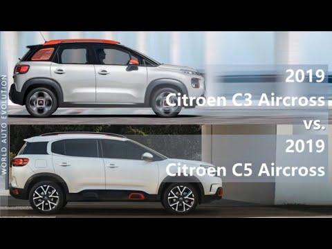 2019 Citroen C3 Aircross vs 2019 Citroen C5 Aircross (technical comparison)