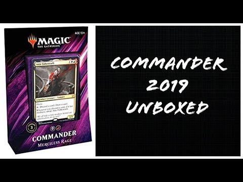 Unboxed - Magic the Gathering Commander 2019 Merciless Rage box opening