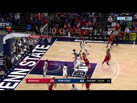 Big Ten Basketball Highlights: Nebraska at Penn State