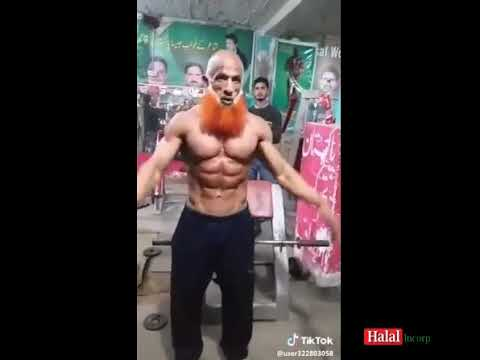 Old Muslim Pakistani Bodybuilder Shows His Prime Physique, Muscles and body