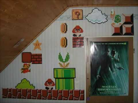 Adesivi Murali Super Mario.Adesivi Da Parete Wall Stickers Super Mario Bros 8bit