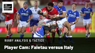 Rugby Analysis Player Cam Faletau versus Italy