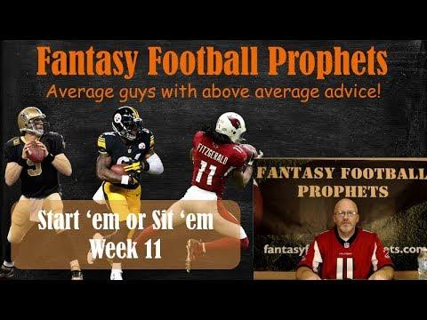 Start 'em or sit 'em week 11 Fantasy Football