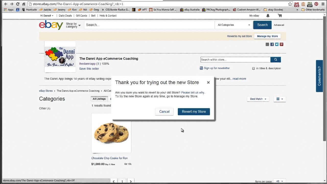 How To Revert From The New eBay Store To The Old - YouTube