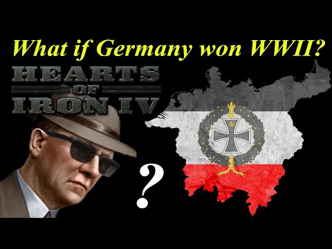What if Germany won WW2? Hearts of Iron 4 AI ONLY Time Lapse |