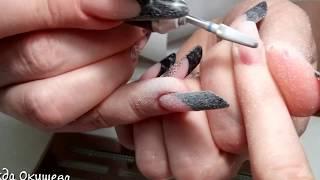 Мастер-класс: коррекция арочных ногтей квадрат