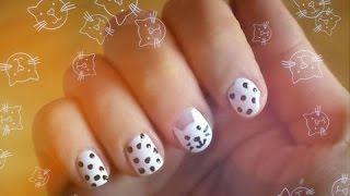 Рисуем кота на ногтях ❤  Kitty Nail Art(, 2014-11-18T11:23:28.000Z)
