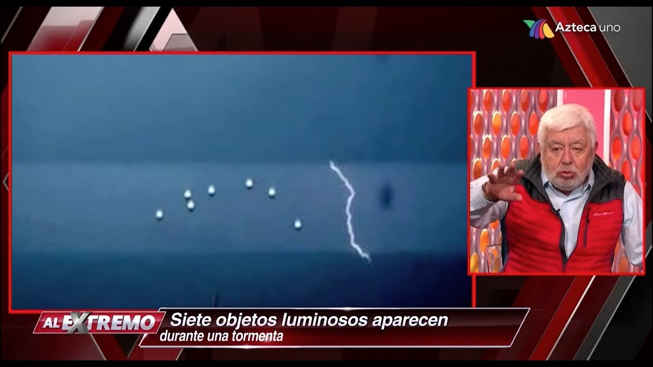 Ovni captado durante tormenta eléctrica en Guadalajara