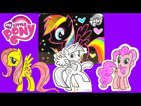 MY LITTLE PONY Color and Play MLP Tin Activity Set Pinkie Pie Rainbow Dash Coloring by DCTC