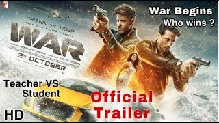 War Trailer, War Movie Trailer | Hrithik VS Tiger | Vaani Kapoor