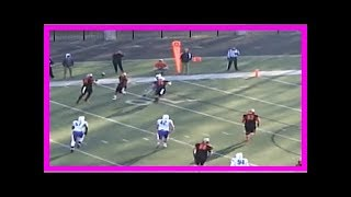 Watch this division iii school run the hook-and-ladder to left tackle who front flips into end zone