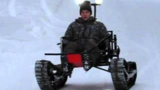 Tracked vehicle TelaKart testing 3.